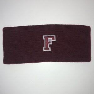 NWOT unisex Fordham maroon Logofit polar earband